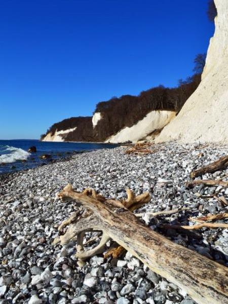 Kreidefelsen an der Ostseeküste in Jasmund auf der Insel Rügen