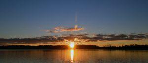 Sonnenuntergang über Moritzdorf am Selliner See auf der Insel Rügen - Urlaub auf Mönchgut an der Ostsee - Ihre private Unterkunft an der Ostseeküste