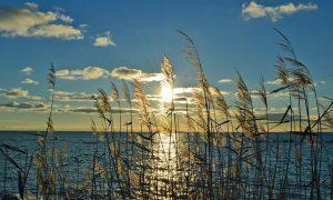 Sonnenuntergang am Strand vom Ostseebad Thiessow auf der Insel Rügen - Ein Paradies für Surfer