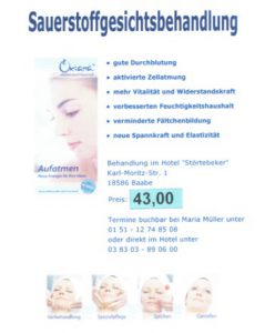 Sauerstoffbehandlung Oxiana – Wellness im Ostseebad Göhren auf der Insel Rügen