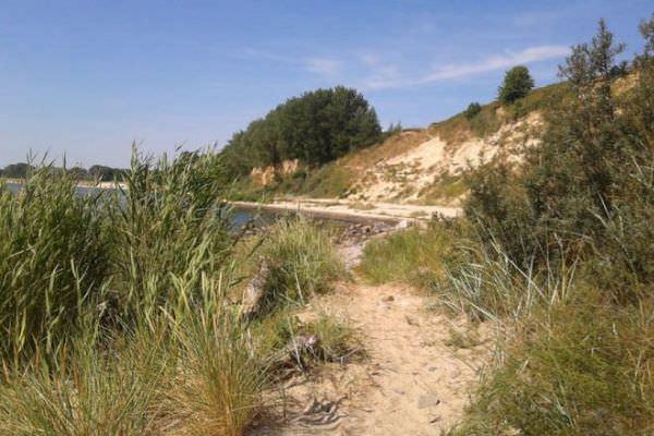 Südstrand am Greifswalder Bodden vom Ostseebad Göhren auf Rügen