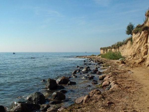 Steilküste bei Klein Zicker am Greifswalder Bodden auf Mönchgut