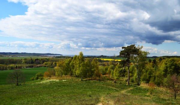Blick über die Halbinsel Mönchgut im Ostseebad Göhren auf Rügen