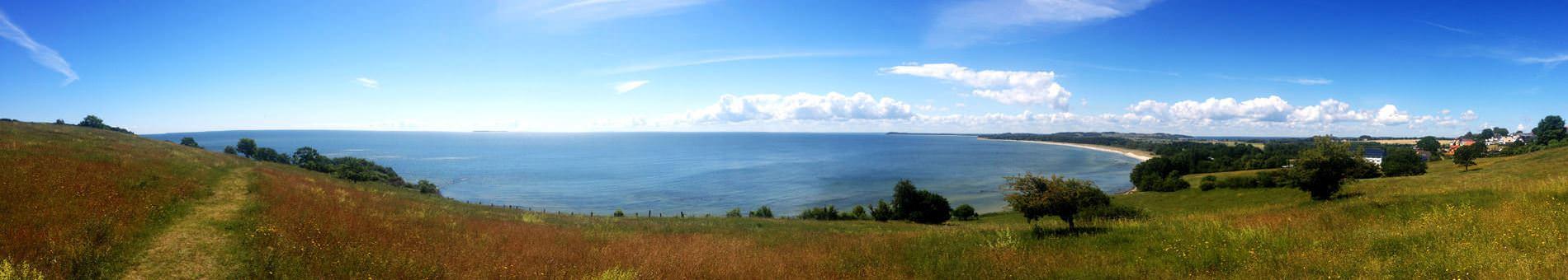 Panoramausblick vom Ostseebad Göhren auf Rügen über Mönchgut bis hin nach Greifswald - Freie Ferienwohnung Ostsee