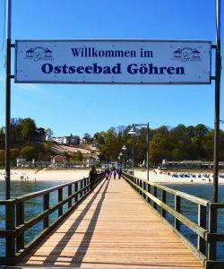 Seebrücke am Nordstrand vom Ostseebad Göhren auf Rügen