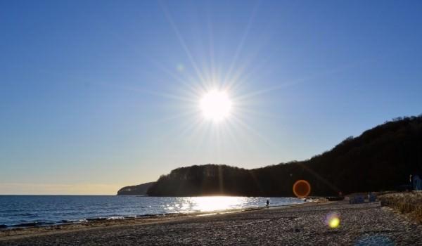 Sonnenaufgang am Strand vom Ostseebad Binz auf der Insel Rügen