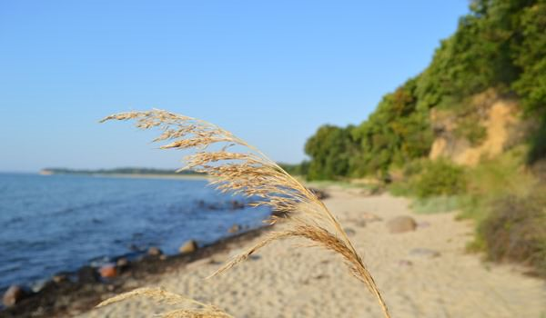 Greifswalder Bodden am Südstrand vom Ostseebad Göhren auf Rügen